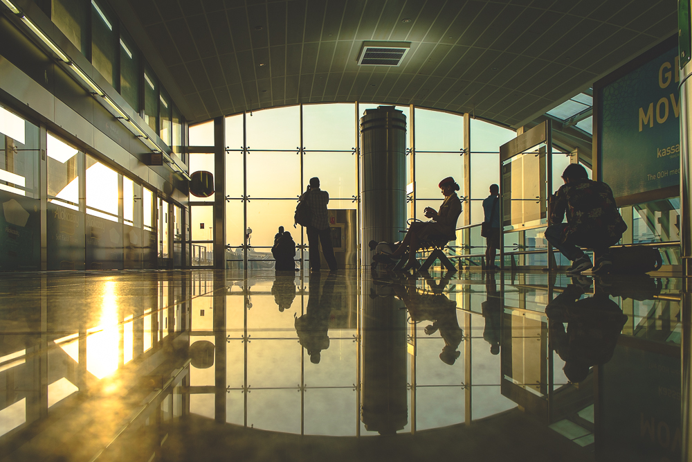 Sunset at Dubai Airport Terminal 3