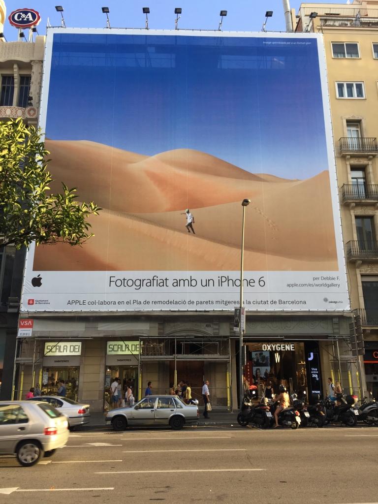 A street across from Placa de Catalunya in Barcelona, Spain Photo taken by: Rula El Kaliouby