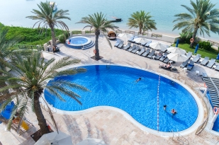 Hilton Al Hamra Pool Area and Jacuzzi